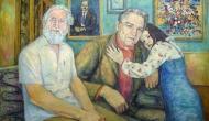 Овчиников Александр Иванович и Кузнецов В. Н. с дочерью, размеры - 64х95