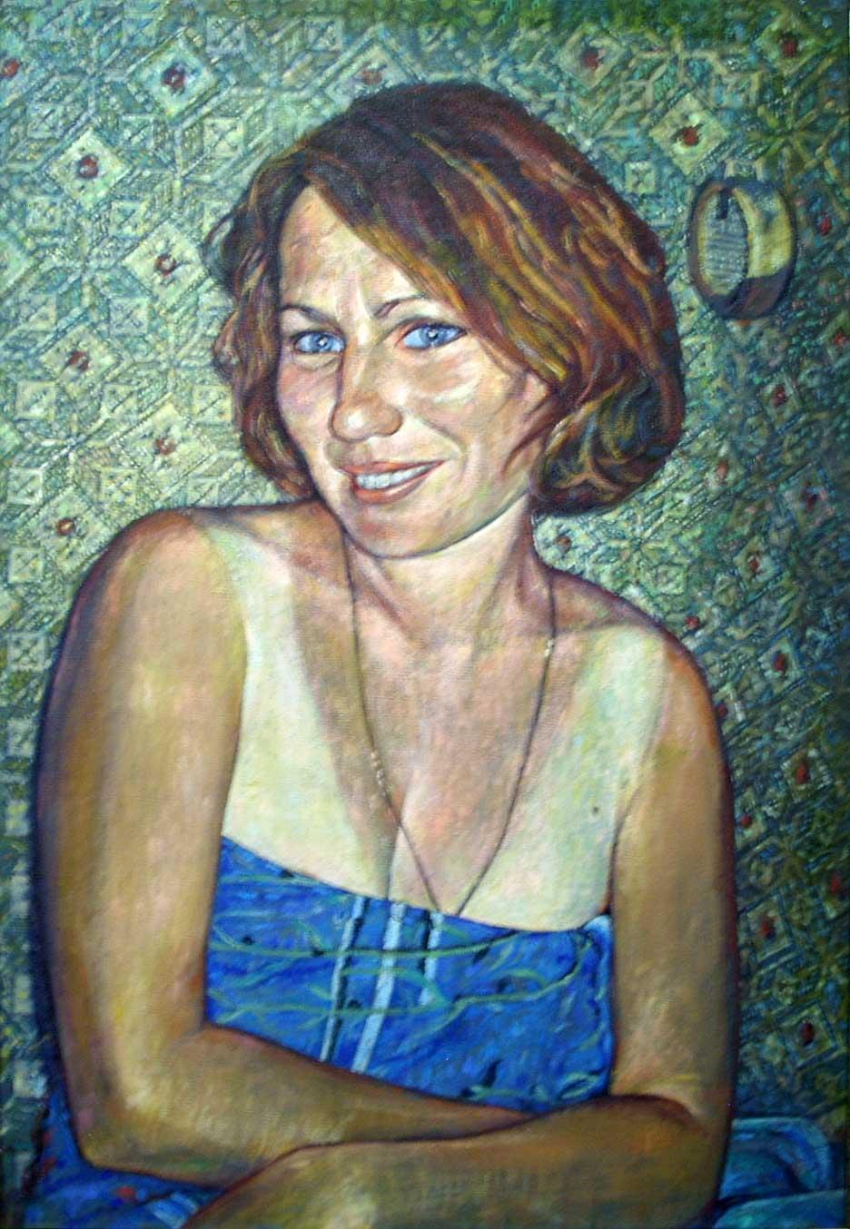Наташа в голубом полотенце