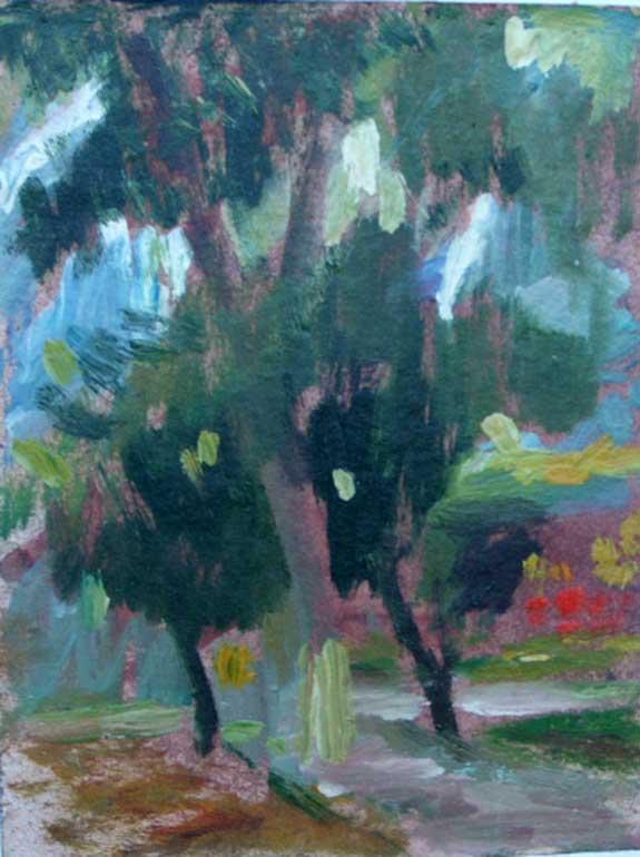 Этюд в Ленинском садике